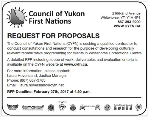 REQUEST FOR PROPOSALS – Council of Yukon First Nations
